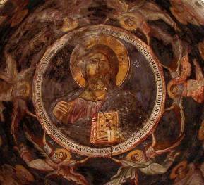 Jesus Christ the Pantocrator - The Most Holy Mother of God Peribleptos, Ohrid