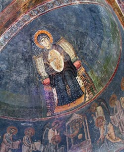 The Most Holy Mother of God Oranta, east apse, the Holy Sophia, Ohrid